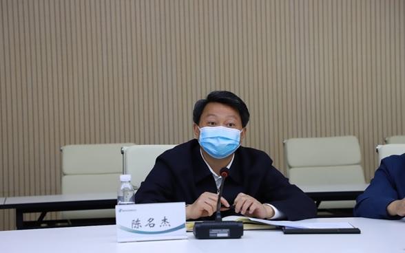 北京市文物局党组书记、局长陈名杰一行赴国家对外文化贸易基地(北京)调研指导工作