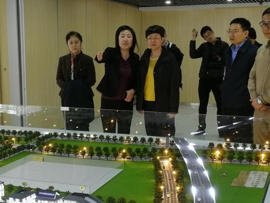 中国银保监会首席检查官、大型银行部总经理杨丽平一行莅临国家对外文化贸易基地(北京)展示中心