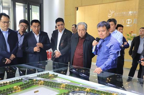 郑州航空港经济综合实验区有关领导 考察国家对外文化贸易基地(北京)